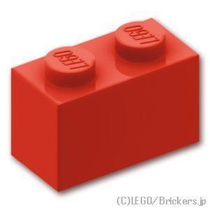 レゴ パーツ ばら売り ブロック 1 x 2:レッド | l...