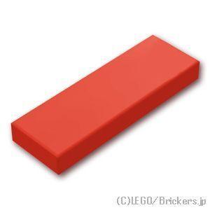 レゴ パーツ ばら売り タイル 1 x 3 フラット:レッド...