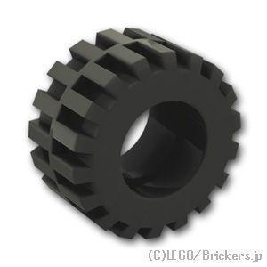 レゴ 車 パーツ ばら売り タイヤ - オフセット トレッド スモール ワイド - トレッドセンターバンド:ブラック | lego 部品