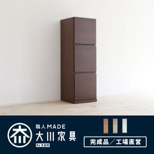 本棚 扉付 完成品 日本製 国産 大川家具 本棚 収納棚 キャビネット/ペルル 40-3Lの写真
