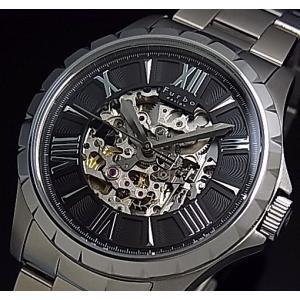 Furbo Design フルボ デザイン スケルトン 自動巻 メンズ腕時計 ブラック文字盤 メタル...