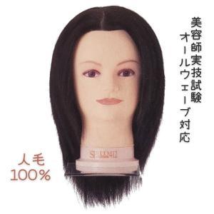 国家試験オールウェーブ用ウィッグ 人毛100% オールウェーブEX テーパーカット済み|bright08