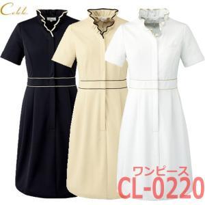 キャララ CL-0220 ワンピース 半袖 レディース エステティックユニフォーム Calala|bright08
