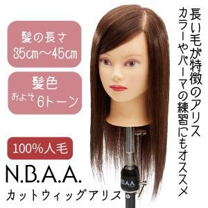 人毛100% 茶髪カットウィッグ N.B.A.A. アリス カッティングウィッグ トレーニング用 NB-WAC01|bright08