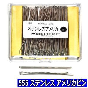 555 ステンレス アメリカピン 100本入 五力工業 美容師国家試験/オールウェーブ/教材|bright08