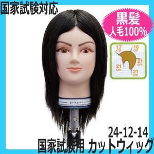 美容師国家試験対応カットウィッグ 人毛100% 黒髪 24-12-14 レイヤースタイル カットマネキン|bright08