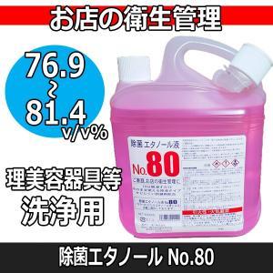 除菌 エタノール液 No.80 4L 阪本高生堂|bright08