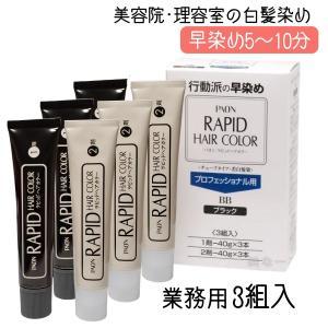 パオン ラピッドヘアカラー 業務用 白髪染め用 3組入|bright08