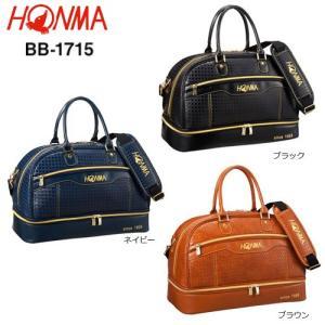 本間ゴルフ(ホンマ) 格子柄調クラシックモデル 二段式 ボストンバッグ BB-1715 [HONMA BOSTON BAG BB1715]|bright1ststage