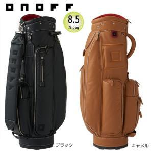 オノフ 8.5型(3.2kg) 本革調で柔らかな風合い(フェイクレザー) キャディバッグ OB1017 [ONOFF CADDIE BAG OB1017]|bright1ststage