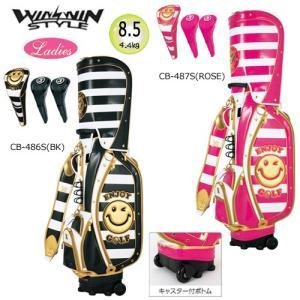 ウィンウィン 8.5型(キャスター付/4.4kg) エンジョイ ゴルフ カートバッグ(トロリー)&ヘッドカバーセット|bright1ststage