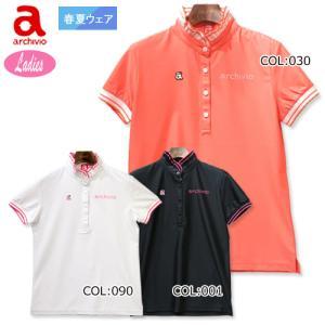 アルチビオ archivio A019811 レディース 半袖ポロシャツ シャツ ゴルフウェア スポーツウェア|bright1ststage