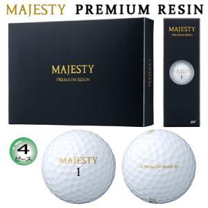 マジェスティ(MAJESTY) プレミアムレジン(PREMIUM RESIN) 4ピース ゴルフ ボール 1ダース(12球入)|bright1ststage