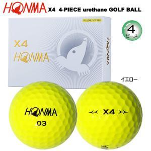 本間ゴルフ(ホンマ/HONMA) X4 4ピース ゴルフ ボール 1ダース (イエロー/12球入)|bright1ststage
