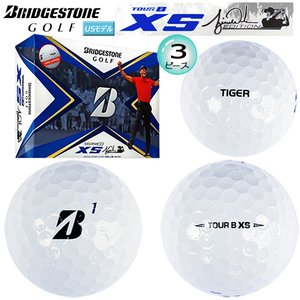ブリヂストン ゴルフ(BRIDGESTONE GOLF) TOUR B XS タイガーウッズ エディション 3ピース  (ウレタンカバー) ゴルフボール 1ダース (12球入) USモデル|bright1ststage