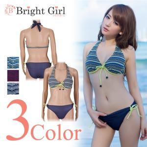 水着ビキニ bikini 2点セット ブラック レッド グリーン 黒 赤 緑 三角ビキニ ビキニ 水着 かわいい レディース 体型カバー|brightcosplay
