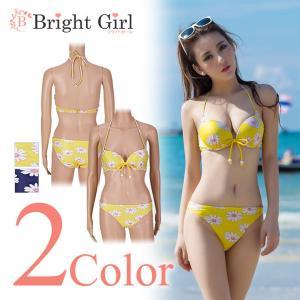 水着 ビキニ bikini 2点セット花柄 三角ビキニ かわいい 大人水着 セクシー 水着 かわいい レディース 体型カバー|brightcosplay