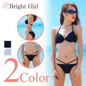 水着 ビキニ bikini 2点セット 全2色 黒 白 ブラ...