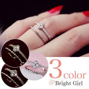 フォークリング 四葉花 サイズ調整可能リング 小物 C型リング  大人かわいいリング フォークリング 指輪 フリーサイズ リング レディース |brightcosplay