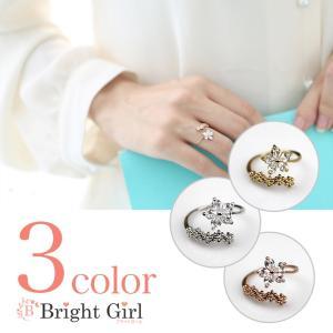 フォークリング フラワー サイズ調整可能リング 小物 C型リング 大人かわいいリング フォークリング 指輪 フリーサイズ リング レディース |brightcosplay
