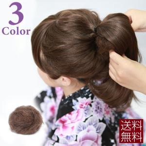 毛たぼ カラートップ ヘアートップ すき毛 つけ毛 黒 茶 和装 ウィッグ 着物 髪飾り fs001|brightlele