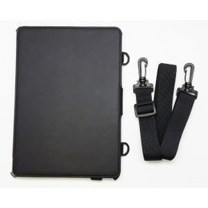 iPad Air2用レザースタンドケース ベルト付き ビジネスモデル BI-IPAD6BTCASE/BK|brightonnetshop