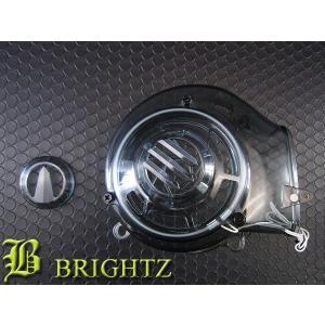 BRIGHTZ シグナスX SE44J クリアスモークエンジンダクトファンカバー CCFL付 白|brightz