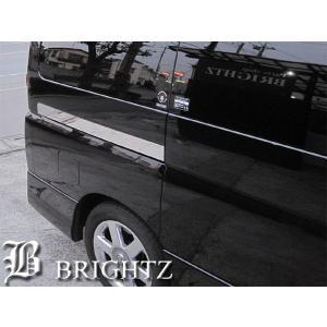 BRIGHTZ エルグランド E51 超鏡面ステンレスメッキスライドレールパネル 2PC