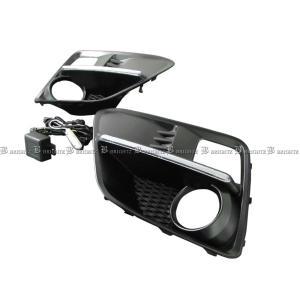 BRIGHTZ WRX STI VAB LEDデイライト付きフォグライトカバー 未塗装 交換タイプ  FOG−H−007