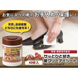 サッとひと拭き靴クリーナーシート靴ミガキ靴磨き 靴ケア ウエットテッシュタイプ日本製 05P20Oct14|brignton-plus