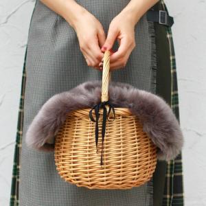 【セット販売】ファー バッグ カバー付き バッケット バッグ 取り外し可能|brignton-plus