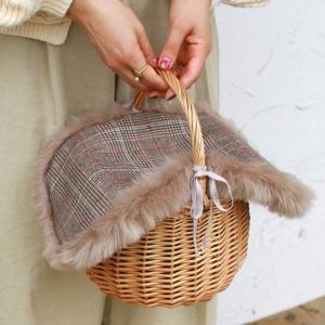 【セット販売】ファー バッグ カバー付き バッケット バッグ 取り外し可能|brignton-plus|05