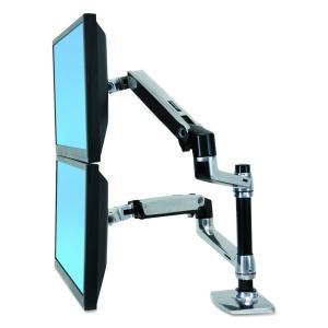 エルゴトロン LX デスクマウント デュアルモニターアーム 縦/横型 45-248-026