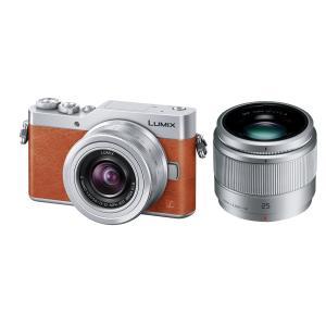 パナソニック ミラーレス一眼カメラ ルミックス GF9 ダブルズームレンズキット 標準ズームレンズ/単焦点レンズ付属 オレンジ DC-GF9W-D|brigshop
