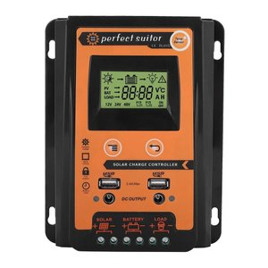 MPPTソーラー充電器コントローラ - ソーラーパネルバッテリーレギュレータ LCDディスプレイ デュアルUSBポートディスプレイ付き12V / 24V安全保護(30A|brigshop