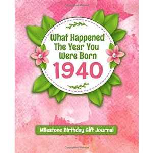 What Happened The Year You Were Born 1940 Milestone Birthday Gift Journal: 80th Birthday Gift 7.5x9.25 120 Pg Journal Notebook Funny Personalized Cust|brigshop