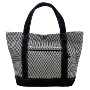 ユナイテッドビーズ 三河木綿 刺子織 コンビトートバッグ  SAS-CTT-01  白黒 送料無料|brillerjapan