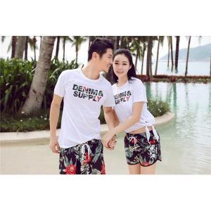 50503cfbb27 ペアルック カップル Tシャツ ハーフパンツ 2点セット セットアップ レディース メンズ ペアパジャマ 上下セット 夏 カップルお揃い 海の日 新婚旅行  ご夫婦