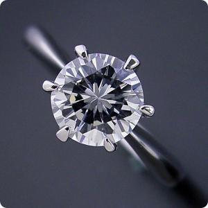 婚約指輪ダイヤモンド1ct1カラットエンゲージリングプラチナティファニージュエリーブライダル結婚指輪マリッジリング受注生産品1カラット版:6本爪テ