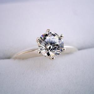 1万円 婚約指輪 1カラット プロポーズ用リング 告白用 サプライズ用 エンゲージリング 一粒 ブラ...