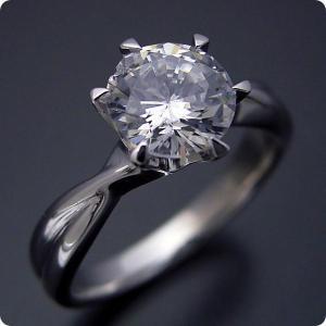 婚約指輪1カラット1ctダイヤモンドエンゲージリングプラチナ...