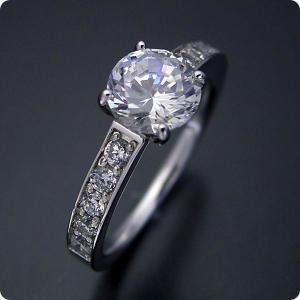 婚約指輪1カラット1ctダイヤモンドエンゲージリングジュエリ...