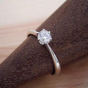 30万円 婚約指輪 0.5カラット ティファニー エンゲージリング 一粒 ダイヤモンド プロポーズ用...