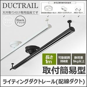 ダクトレール 1m ライティングレール シーリング用 ライティングバー 照明器具 ペンダントライト スポットライトDRS100W 白 DRS100K 黒