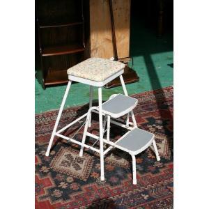 イギリスアンティーク家具 ステップスツール181-3 英国製 1960年頃 送料無料|british-life