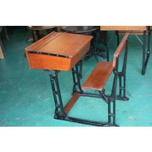 イギリスアンティーク家具 スクールデスク40−B 英国製 1960年頃 送料無料