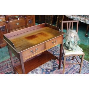イギリスアンティーク家具 ウォシュスタンド デスク テーブル  h171 英国製1900年頃 送料無料|british-life