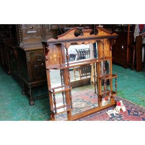 イギリスアンティーク家具 マントルミラー 壁掛けミラー 暖炉ミラー 鏡 ディスプレイミラー ビクトリアン/ミラー h52 英国製1880年頃 送料無料|british-life