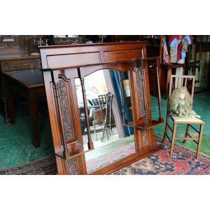 イギリスアンティーク家具 ミラー マントルミラー 鏡 ビクトリアン/ミラー n138 英国製1880年頃 送料無料|british-life