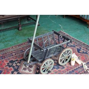 イギリスアンティーク家具 ドック/カート台車p49-2 英国製 1910年頃 送料無料|british-life